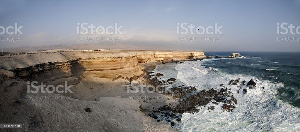 A panoramic view of Antofagasta coast in Chile stock photo