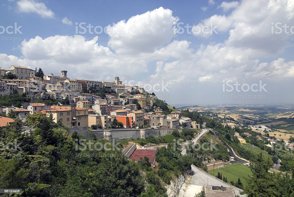 Panoramic view of Arcevia (Ancona, Marches) royalty-free stock photo