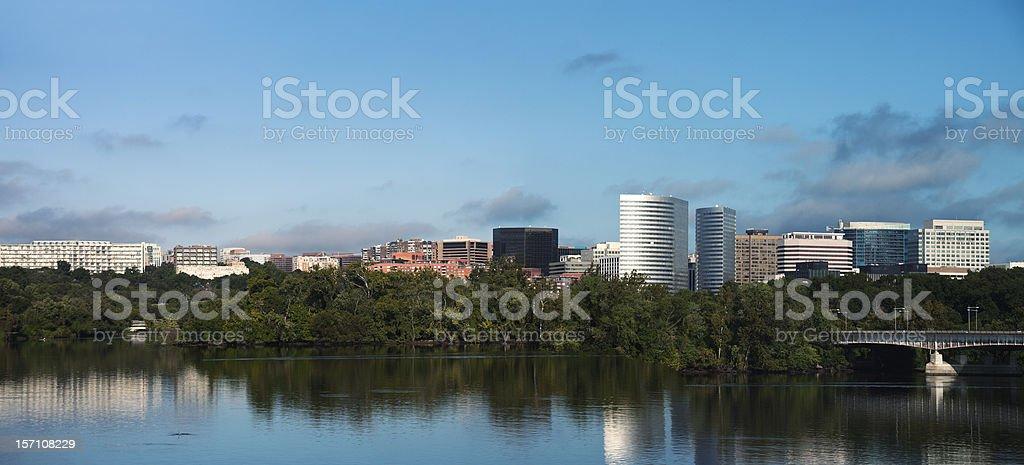 Panoramic view of Arlington stock photo