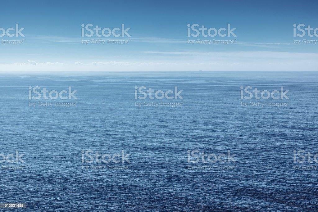 Panoramic view of Atlantic Ocean stock photo