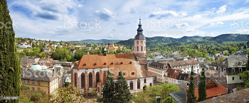 Panoramic view of Baden-Baden. Europe, Germany stock photo
