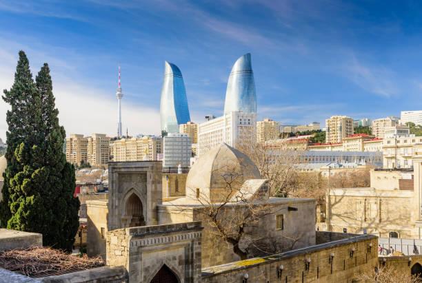 Panoramablick auf Baku – Foto