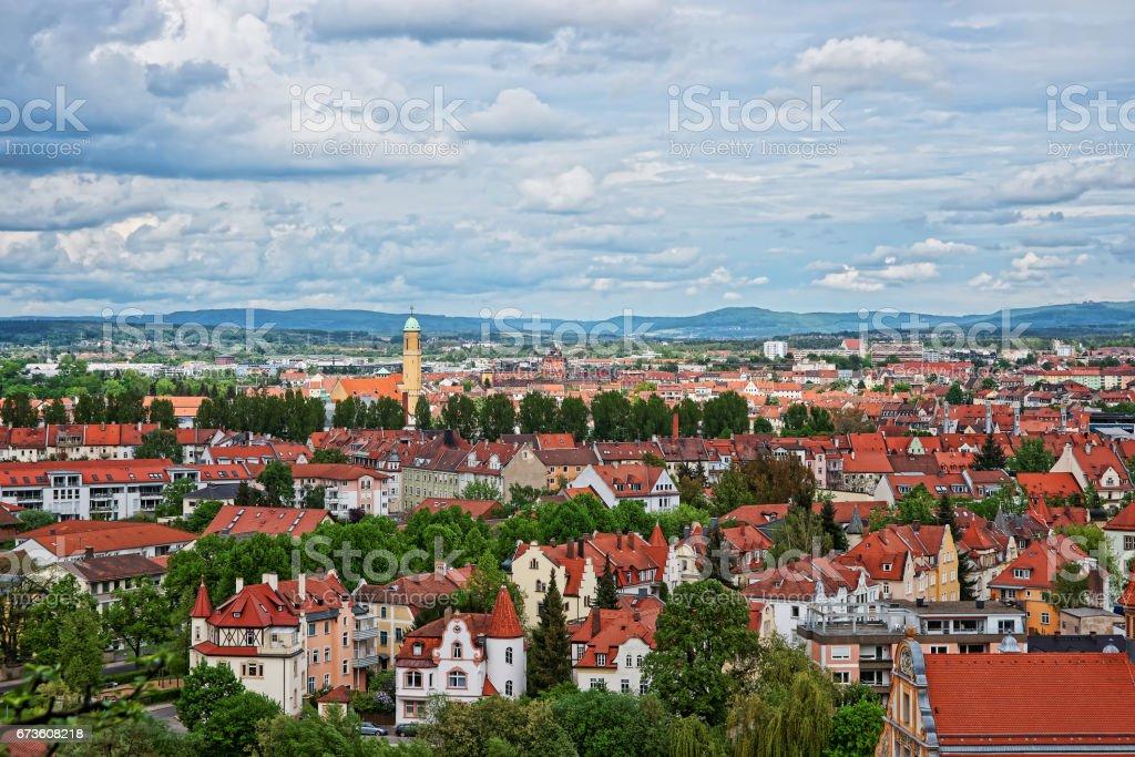 Panoramablick vom Stadtzentrum Bamberg Oberfranken Deutschland – Foto