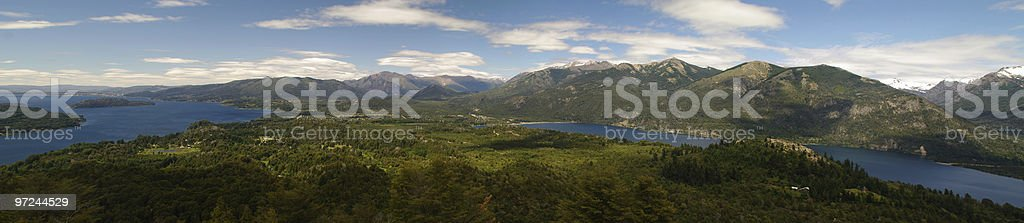 Panoramic view of Bariloche and its lake in Patagonia, Argentina royalty-free stock photo
