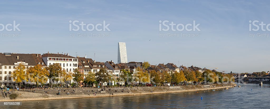 Panoramic view of Basel, Switzerland – Foto