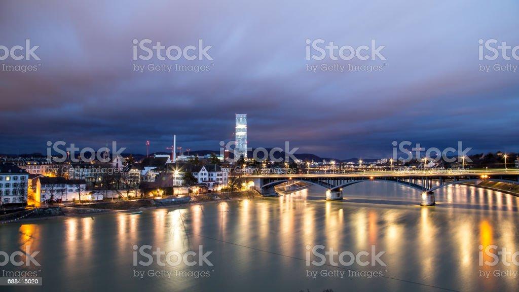 Panoramablick über Basel, Schweiz – Foto