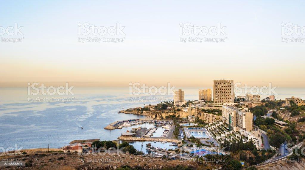 Panoramic view of Beirut, Lebanon capital. stock photo