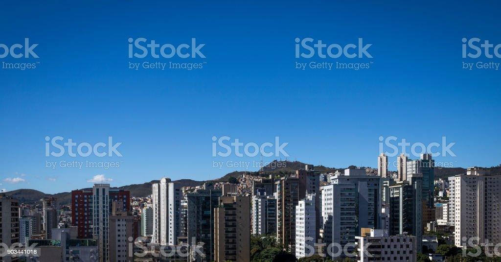 Panoramic view of Belo Horizonte, Minas Gerais, Brazil stock photo