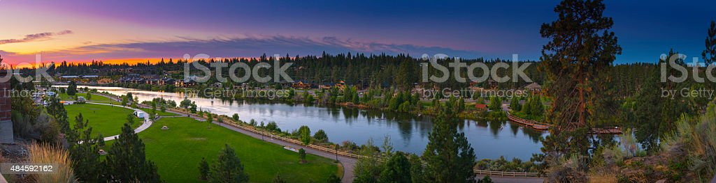 Panoramic View of Bend Oregon USA stock photo