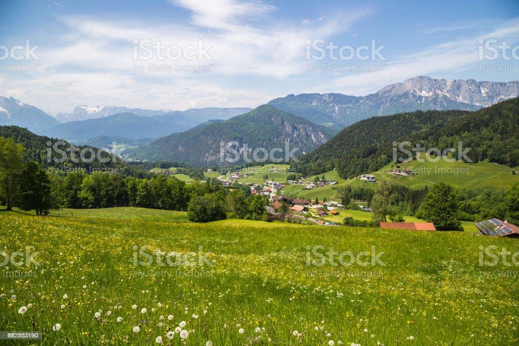 Panoramablick auf Berchtesgaden, Bayern, Deutschland – Foto