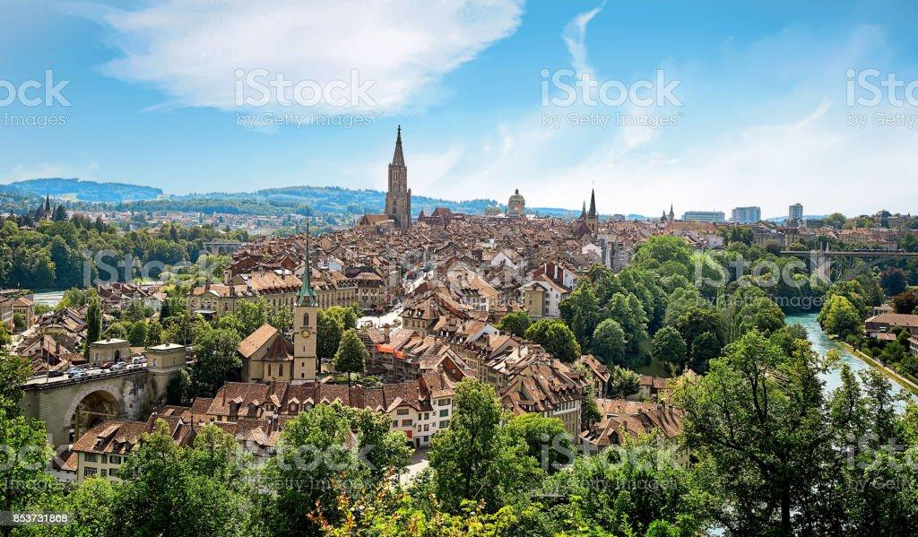 Panorama der Stadt Bern, Schweiz – Foto
