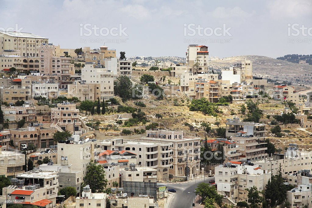 Panoramic view of Bethlehem stock photo