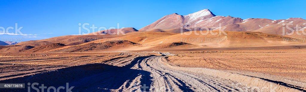 Panoramic view of Bolivian altiplano stock photo