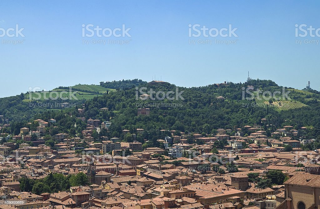 Panoramic view of Bologna. Emilia-Romagna. Italy. stock photo