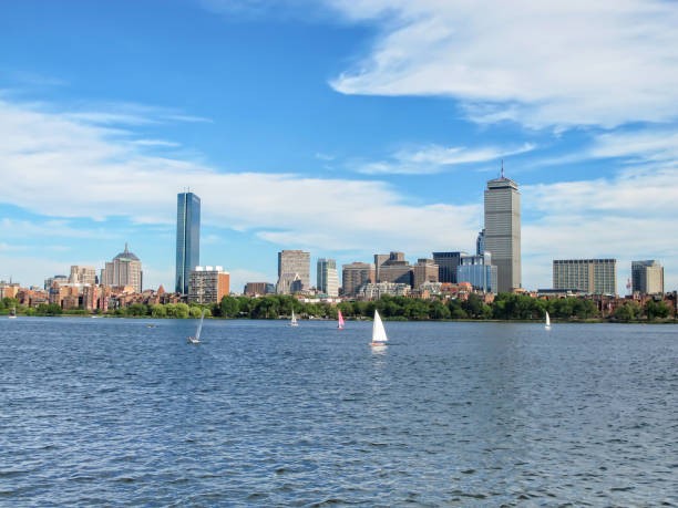 Panoramic view of Boston, MA – Foto