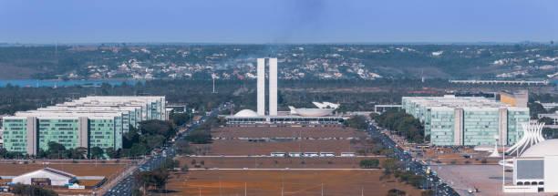 Panoramic view of Brasilia stock photo