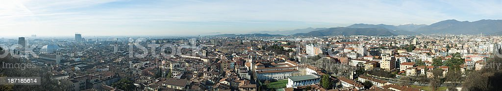Panoramic view of Brescia royalty-free stock photo