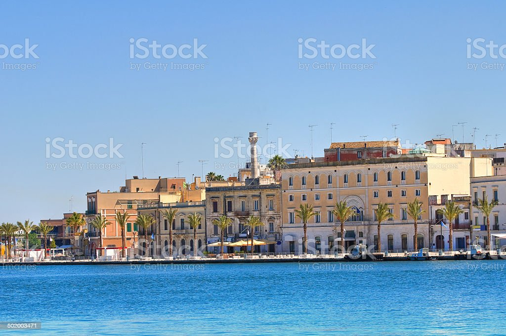 Panoramic view of Brindisi. Puglia. Italy. stock photo