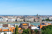 Panoramic view of Budapest city and Danube river