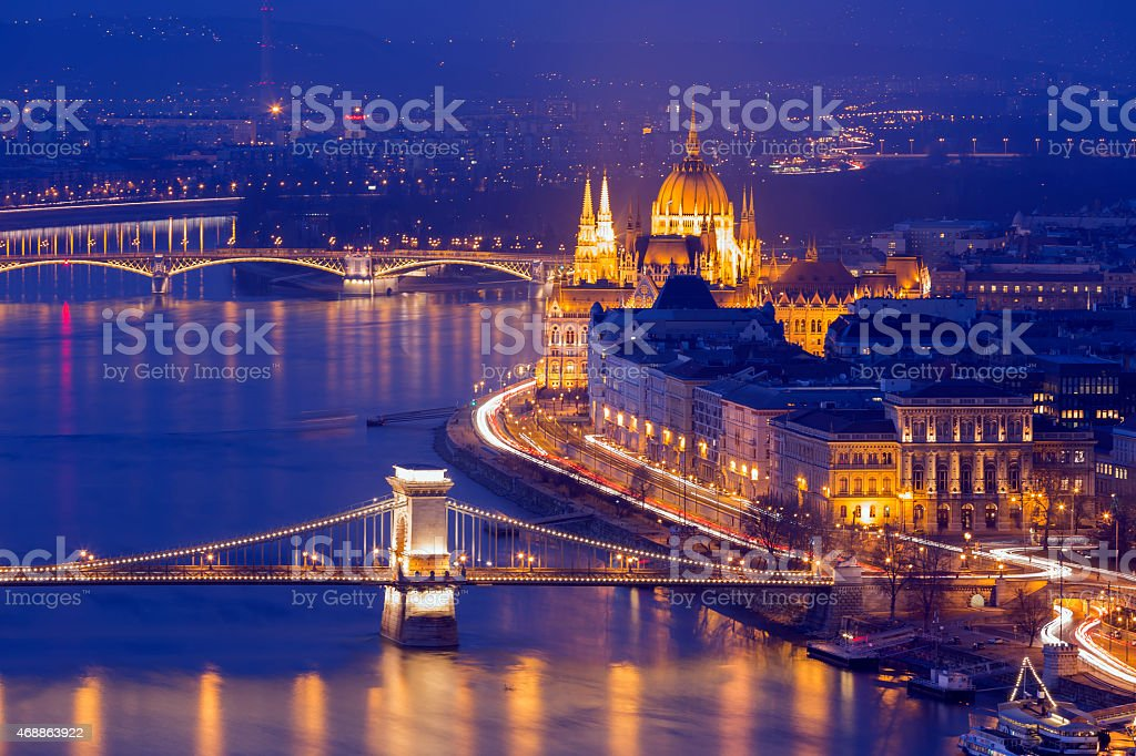 Panoramic view of Budapest cityscape stock photo
