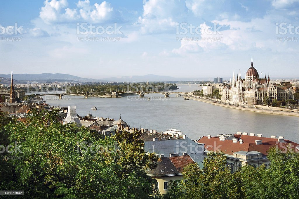Panoramic view of Budapest royalty-free stock photo