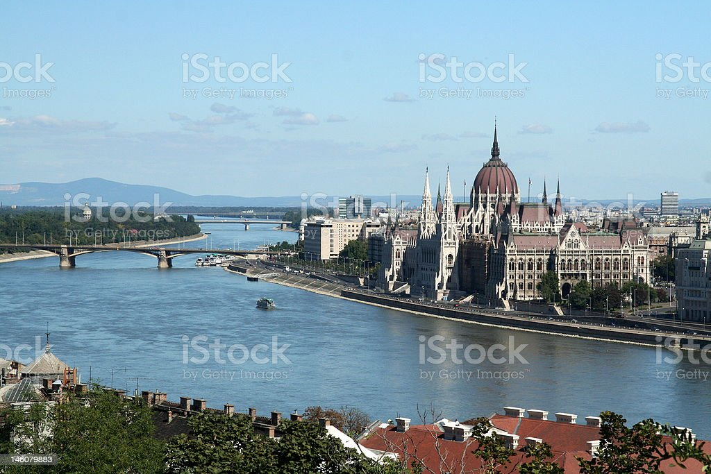 Panoramic view of Budapest. royalty-free stock photo