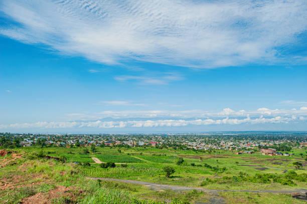 Panoramic view of Bujumbura, capital city of Burundi, Africa stock photo