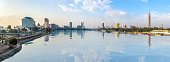 Panoramic view of Cairo downtown at sunrise, Egypt