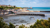 Panoramic view of the coast of Cancale, Ille et Vilaine, France