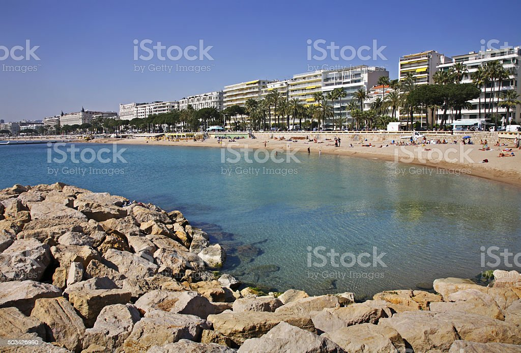 Panoramic view of Cannes. France stock photo