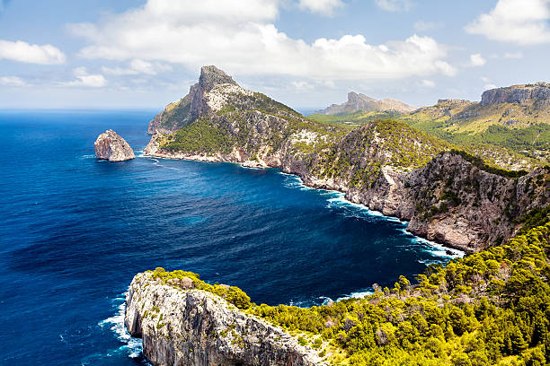 Panoramic view of Cape Formentor. Mallorca