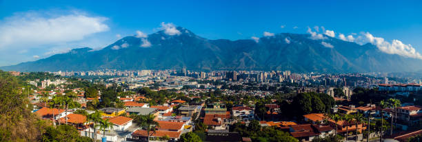 a panoramic view of caracas - venezuela stock photos and pictures