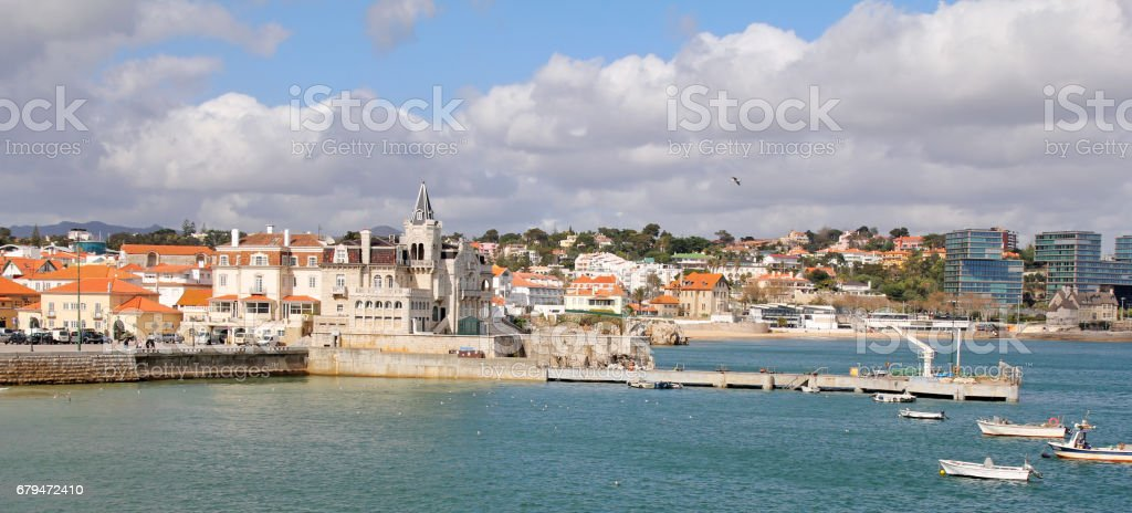 panoramic view of Cascais near Lisbon, Portugal 免版稅 stock photo
