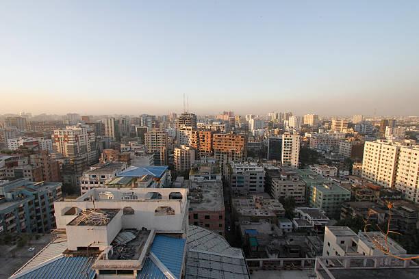 Panoramic view of central Dhaka, Bangladesh 스톡 사진