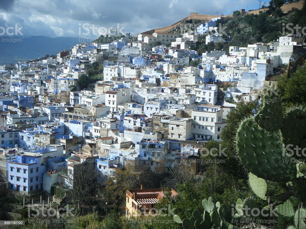 Panorámica de Chefchaouen royalty-free stock photo