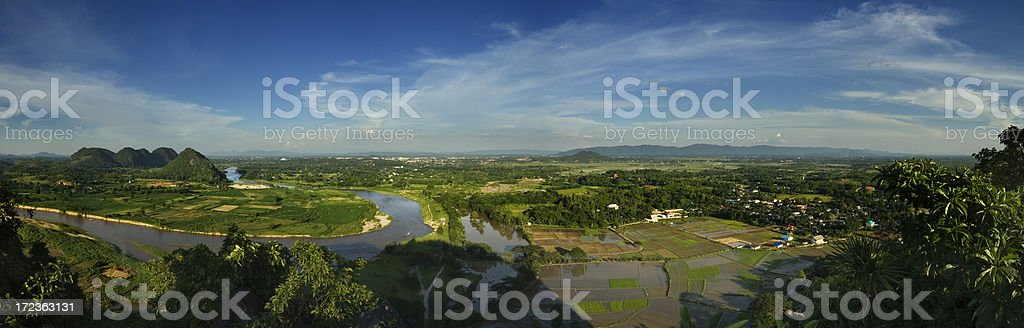 Panoramic View of Chiang Rai royalty-free stock photo