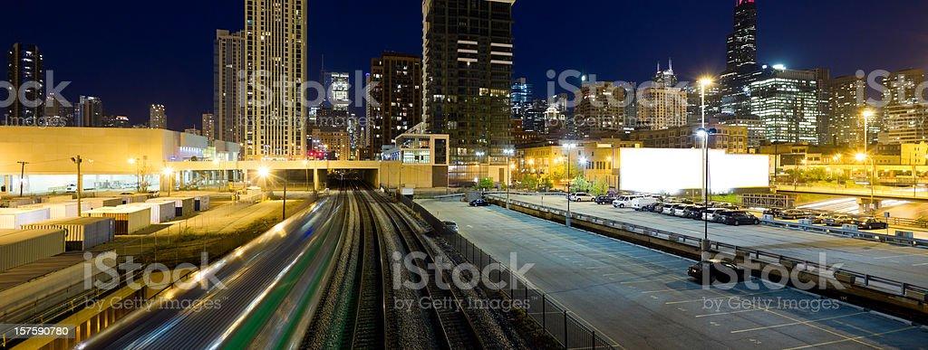 Panoramic View of Chicago at Twilight (XXXL) stock photo