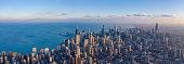 Panoramic View of Chicago Skyline - Feb 2020