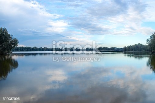 Panoramic view of Chipping Norton lake in Sydney, New South Wales, Australia