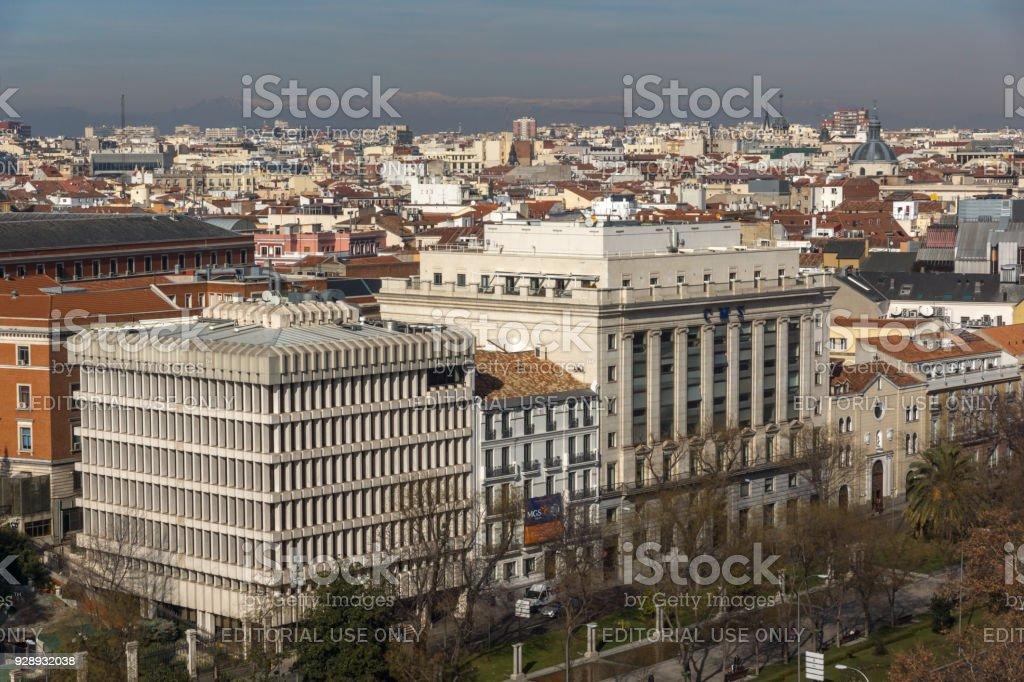 Vista Panorámica De La Ciudad De Madrid Del Palacio De