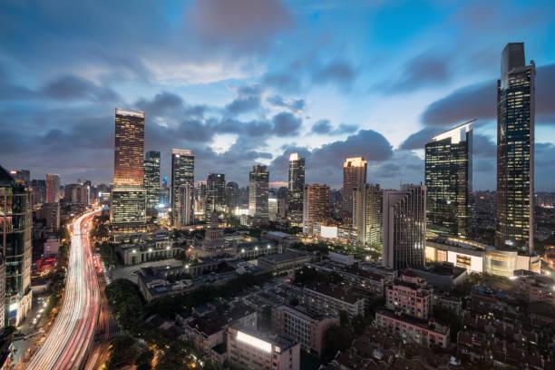 Panoramablick auf Stadt und Stadt skyline – Foto