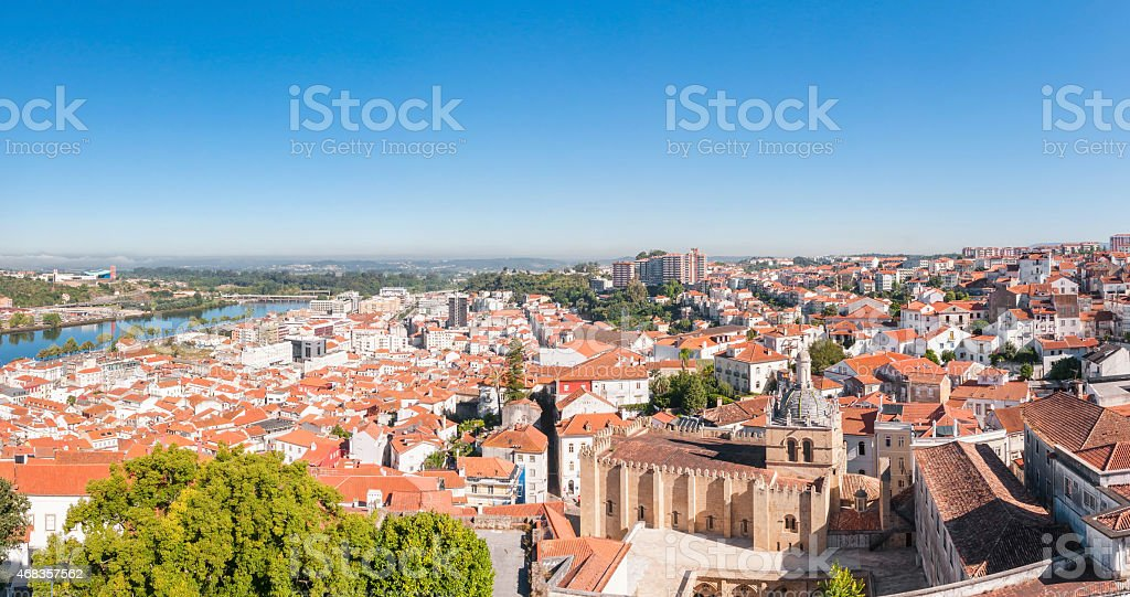 Panoramic view of Coimbra in Portugal royalty-free stock photo