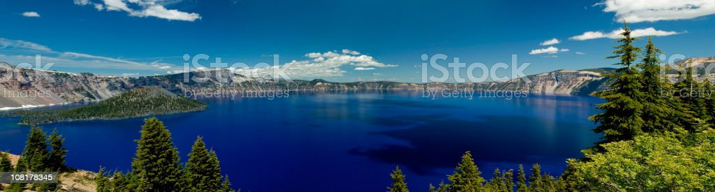 Panoramic View of Crater Lake National Park Landscape royalty-free stock photo