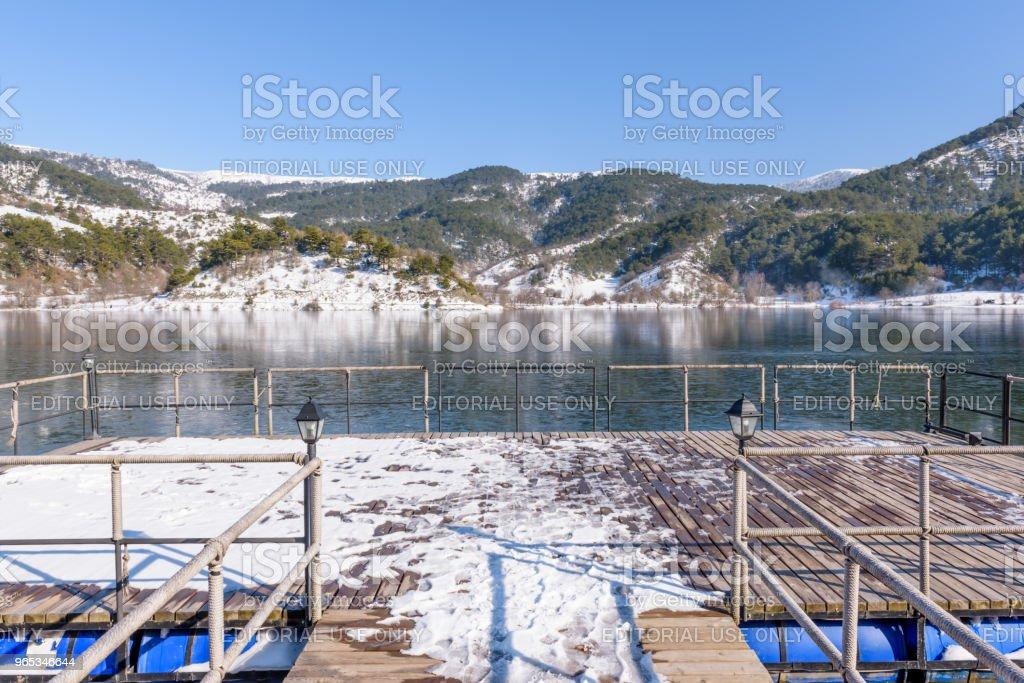 Panoramic view of Cubuk lake in Goynuk royalty-free stock photo