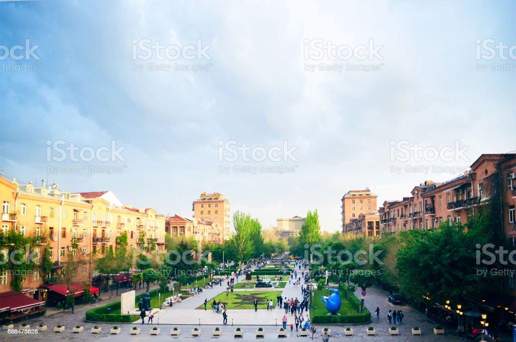 Panoramic view of Erevan, the capital of Armenia stock photo