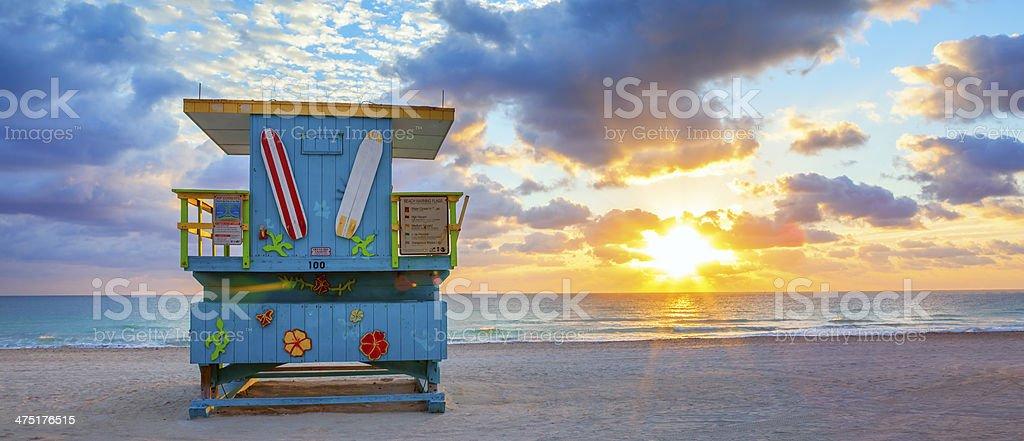 Panoramiczny widok na słynny Miami South Beach sunrise – zdjęcie