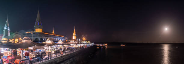 Panoramic view of famous Ver o Peso Market, in Belem do Para stock photo