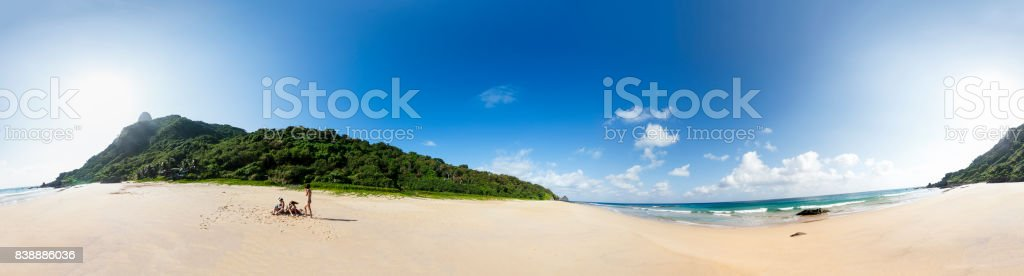 360º panoramic view of Fernando de Noronha stock photo