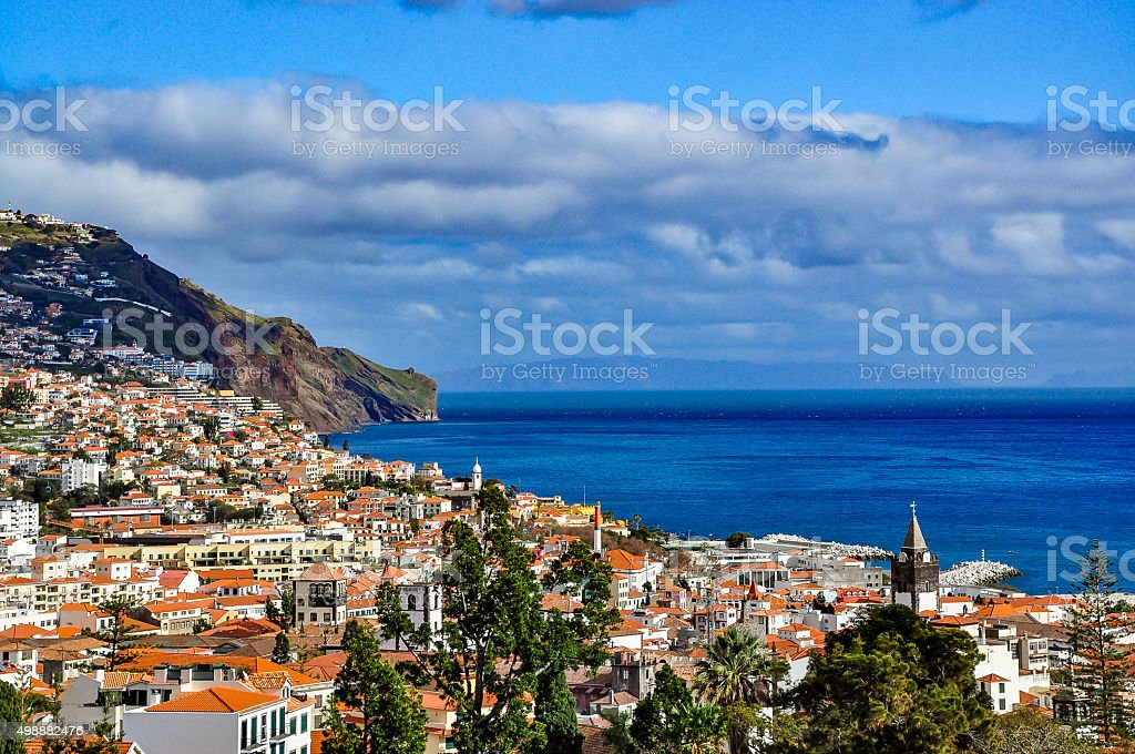 Panoramic view of Funchal, Madeira, Portugal stock photo