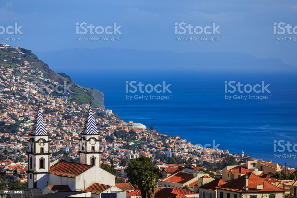 Vue panoramique de Funchal, Madère, Portugal stock photo